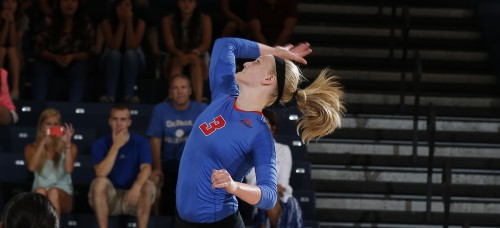 DePaul volleyball will return all of their players, as well as their freshman recruiting class, for the 2015 season. (Photo courtesy of DePaul Athletics)