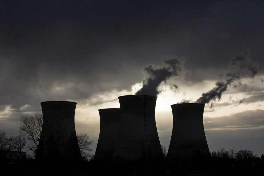 This Friday, April 11, 2015 file photo shows a view of the Bugey nuclear plant in Saint-Vulbas, near Lyon, central France.  (AP Photo/Laurent Cipriani, File)