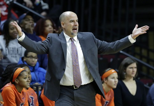 Matt Bollant is under pressure to resign at Illinois basketball after allegations of racial, sexist and verbal abuse toward his players (AP Photo/Mel Evans, File)