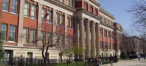 Lincoln Park High School, located just blocks away from DePaul's campus, is one of the better performing schools in CPS. But uncertainty reigns as the system faces large pension payments and other costs that exceed revenue. (Photo courtesy of Kseferovic | Wikimedia Commons)