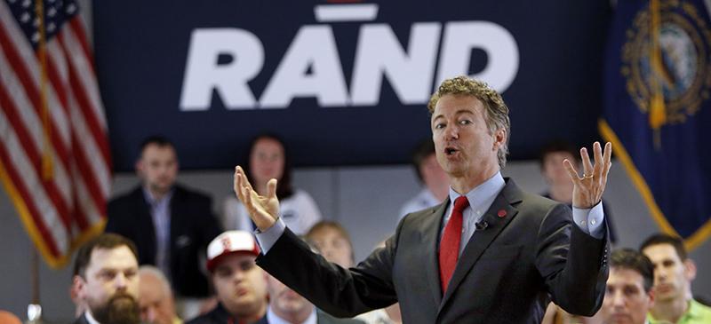 2016 Republican presidential candidate Rand Paul. (AP Photo/Jim Cole)