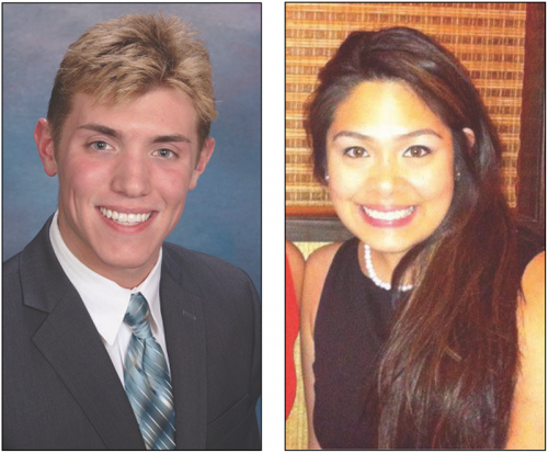 College of Liberal Arts and Sciences Senator Luke Kula (left) will challenge Executive Vice President for Student Affairs Vanessa Cadavillo for the president of SGA. Voting will take place May 18-22. (Photo courtesy of Student Government Association)