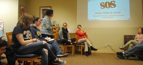 Catholic Campus Ministry and LGBTQ services hosted a discussion on sexual relationships last Wednesday. (Maia Moore / The DePaulia)