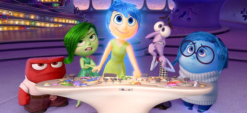 """""""Inside Out"""" takes place in the mind of 11-year-old Riley Anderson and follows her five emotions: Joy, Anger, Disgust, Fear and Sadness. (Photo courtesy of Walt Disney Pictures)"""