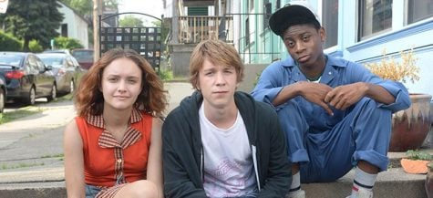 "Olivia Cooke as Rachel, Thomas Mann as Greg and RJ Cyler as Earl in ""Me and Earl and the Dying Girl."" (Photo courtesy of Fox Searchlight Pictures)"
