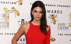 Kendall Jenner attends the Fragrance Foundation Awards at Alice Tully Hall on Wednesday, June 17, 2015, in New York. (Photo by Andy Kropa/Invision/AP)