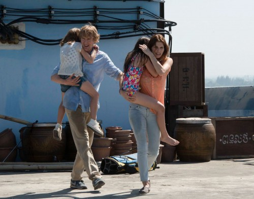 "In this image released by The Weinstein Company, Owen Wilson, left, and Lake Bell appear in a scene from, ""No Escape."" (Roland Neveu/The Weinstein Company via AP)"