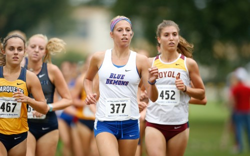 Junior Paige Skorseth placed with a team high 30th at the Catholic National Championships. (Photo courtesy of DEPAUL ATHLETICS)