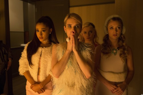 The Chanels (from L to R): Chanel #4 (Ariana Grande), Chanel Oberlin (Emma Roberts), Chanel #5 (Abigail Breslin) and Chanel #3 (Billie Lourd). Photo courtesy of FOX.
