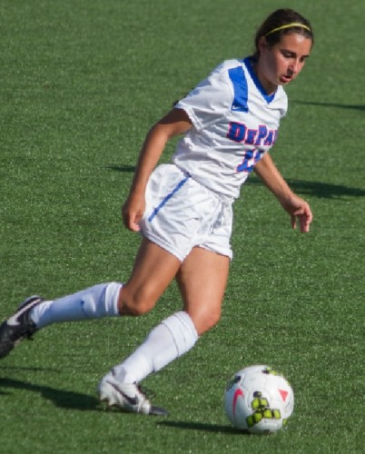 Sophomore midfielder Alexa Ben and the DePaul attack could not score against Loyola. Photo courtesy of DePaul.