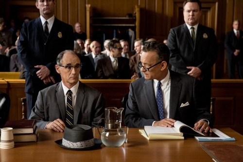 """In """"Bridge of Spies,"""" Steven Spielberg's most recent film, Tom Hanks (right) plays James Donovan, an American lawyer who negotiated the exchange of the captured American pilot, Francis Gary Powers during the Cold War. (Photo courtesy of 20th Century Fox.)"""