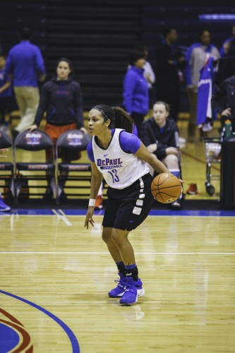 Senior guard Chanise Jenkins will be a main component of the offense. (Josh Leff / The DePaulia)