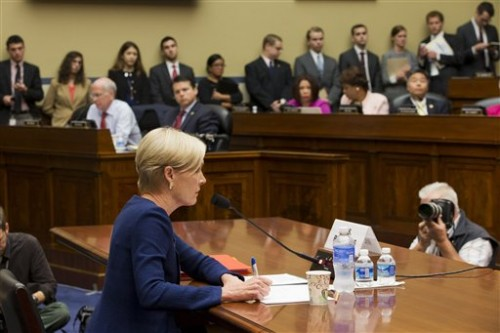 """Planned Parenthood Federation of America President Cecile Richards testifies on Capitol Hill in Washington, Tuesday, Sept. 29, 2015, before the House Oversight and Government Reform Committee hearing on """"Planned Parenthood's Taxpayer Funding."""" (AP Photo/Jacquelyn Martin)"""