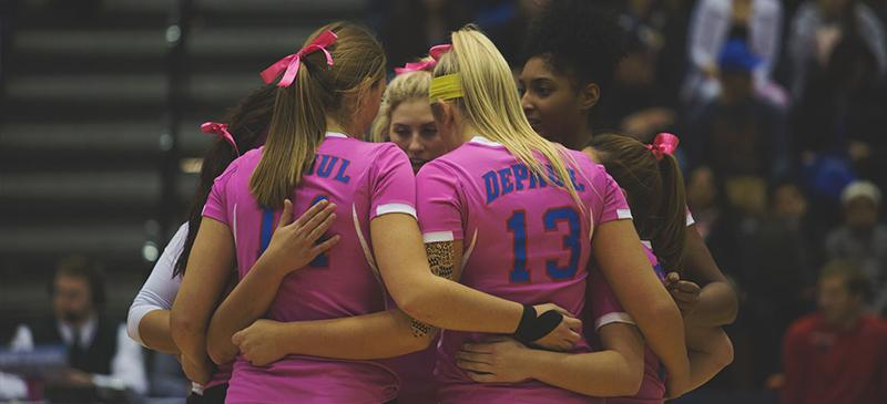 """DePaul volleyball's """"Dig Pink"""" fundraiser is personal"""