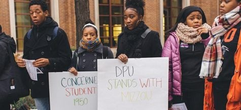 DePaul students stand with Mizzou, encourage action
