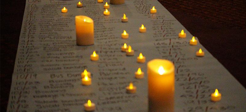 DePaul interfaith students honor victims of recent attacks at vigil