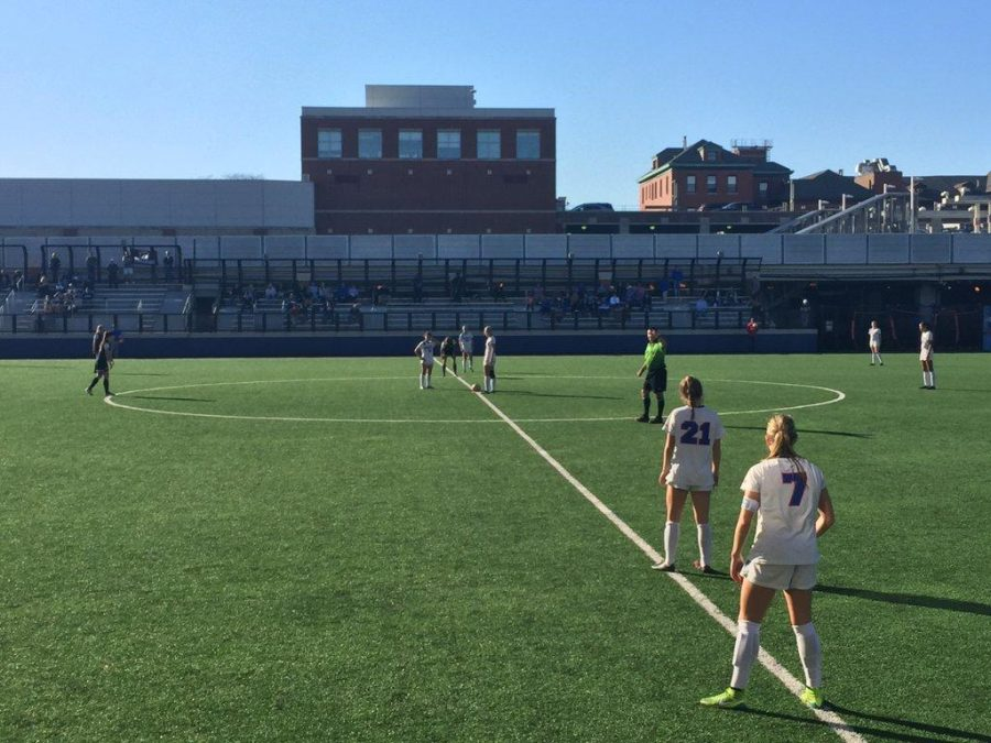 Women's soccer's loss against Providence Tuesday marks the end of the Blue Demons' season. (Zachary Holden / The DePaulia)