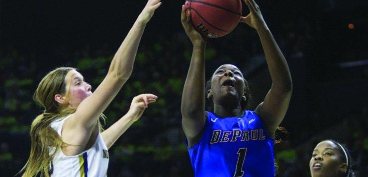 DePaul womens basketballs rally falls short at Notre Dame 95-90