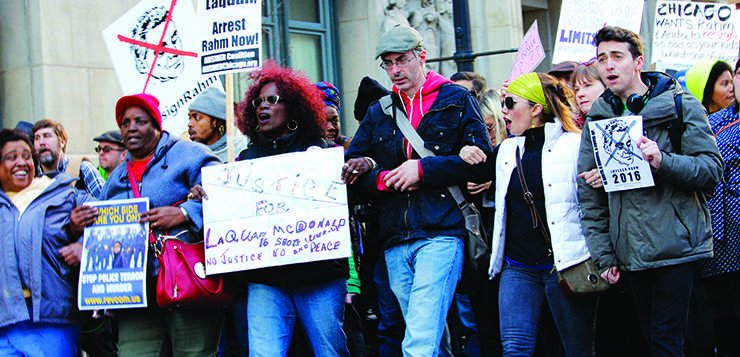 Loop protesters call for Emanuel's resignation