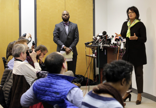 Sharon Fairley, acting head of the Independent Police Review Authority, speaks at a news conference, Monday, Jan. 4, 2016, in Chicago. The head of a city watchdog that investigates Chicago police shootings pledged greater transparency as the agency does its work, while at the time Monday a federal judge blasted the city's legal arm for trying to conceal evidence in one police shooting. (Photo courtesy of Teresa Crawford | ASSOCIATED PRESS)