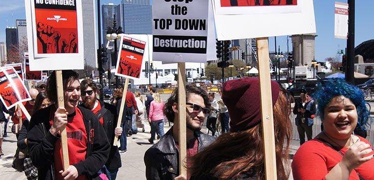 Two unions seek to represent DePaul adjuncts