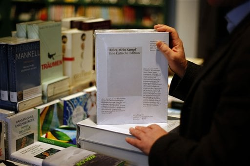 """""""Mein Kampf"""" returned to bookstores in Germany in January. The annotated edition is the first version of Adolf Hitler's notorious manifesto to be published in Germany since the end of World War II. (Photo by Matthias Schrader 