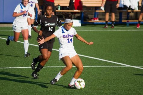 Defender Sarah Gorden is the first DePaul women