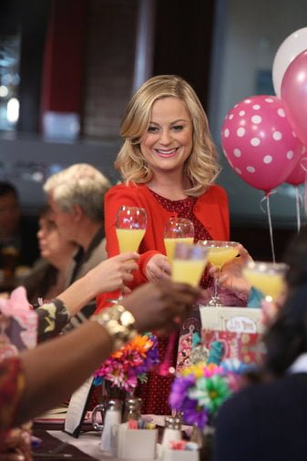 "Leslie and the women of ""Parks and Recreation"" celebrate ""Galentine's Day."" (Photo courtesy of NBC)"