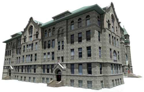 Bryrne Hall was named after DePaul's first president. (Photo courtesy of DEPAUL UNIVERSITY)