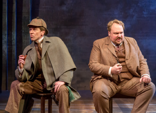 "DePaul professor Nick Sandys Pullin (left) and Michael Aaron Lindner (right) star in ""The Man Who Murdered Sherlock Holmes"" as Sherlock Holmes and Arthur Conan Doyle respectively."