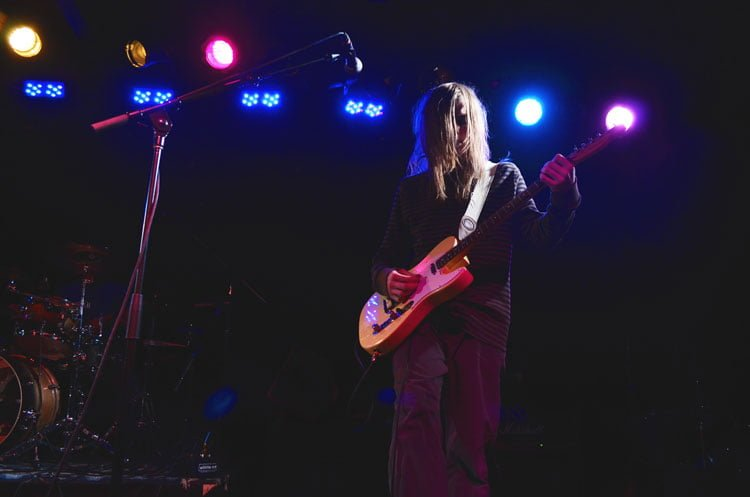 DePaul freshman Megan Stringer took this photo of Flounder, a band from Lake Zurich, Illinois, at the Beat Kitchen. Stringer photographs local bands to help build her portfolio. (Photo courtesy of MEGAN STRINGER)