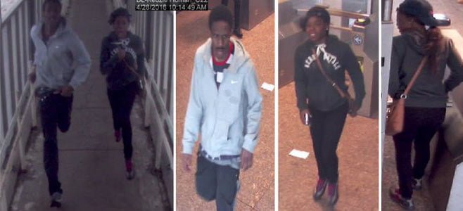 Photos of the two offenders who attacked the DePaul freshman and tried to grab her cell phone. (Photo courtesy of CPD)