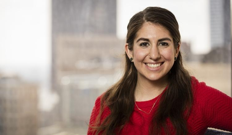 Hannah Retzkin replaces Rima Shah as the new sexual and relationship violence prevention specialist. (Jeff Carrion / DEPAUL UNIVERSITY)