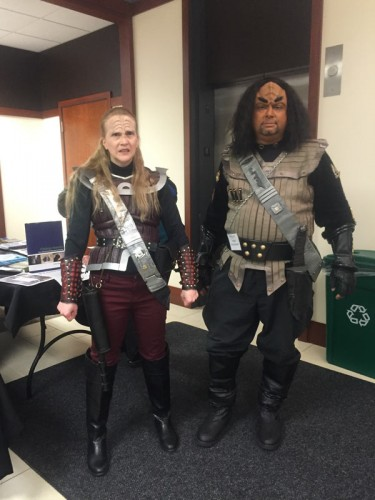 Two attendees came fully dressed as Klingons, a race from the 'Star Trek' franchise. (Gabriella Mikiewicz / The DePaulia)