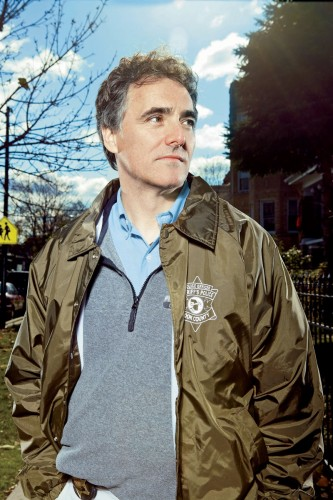 Cook County Sheriff Tom Dart visits DePaul Tuesday, May 24. (Photo courtesy of Tom Dart for Sheriff)