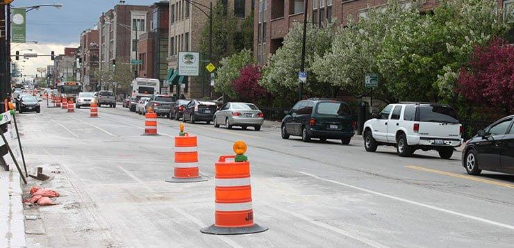 Fullerton Avenue gets a face lift near campus