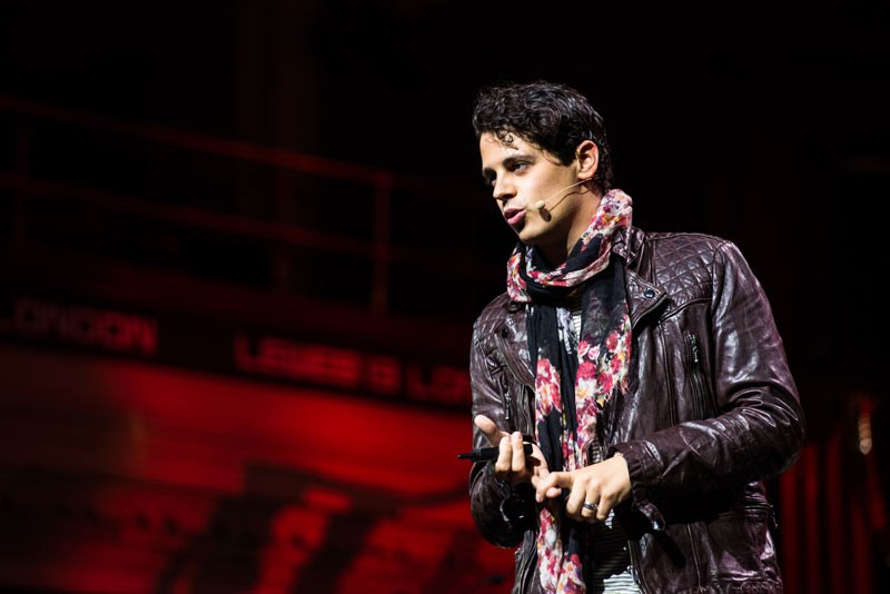 """Milo Yiannopoulos (above) will speak at DePaul May 24. Yiannopoulos, a conservative journalist, attracted much controversy for his statements on various topics, some calling it """"hate speech."""" (Photo courtesy of Kmeron / FLICKR)"""