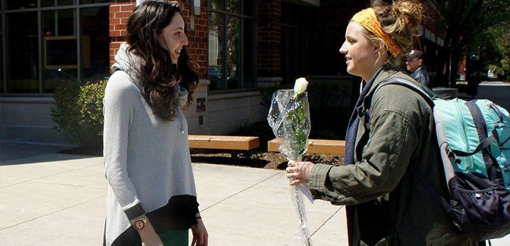 DePaul honors Holocaust Remembrance Day with white roses