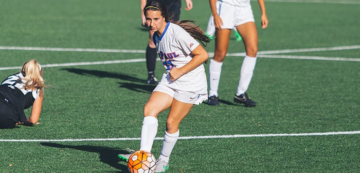 Sophomore midfielder Alexa Ben will enter her third year at DePaul as a focal point of the Blue Demons' attack. (Josh Leff / The DePaulia)