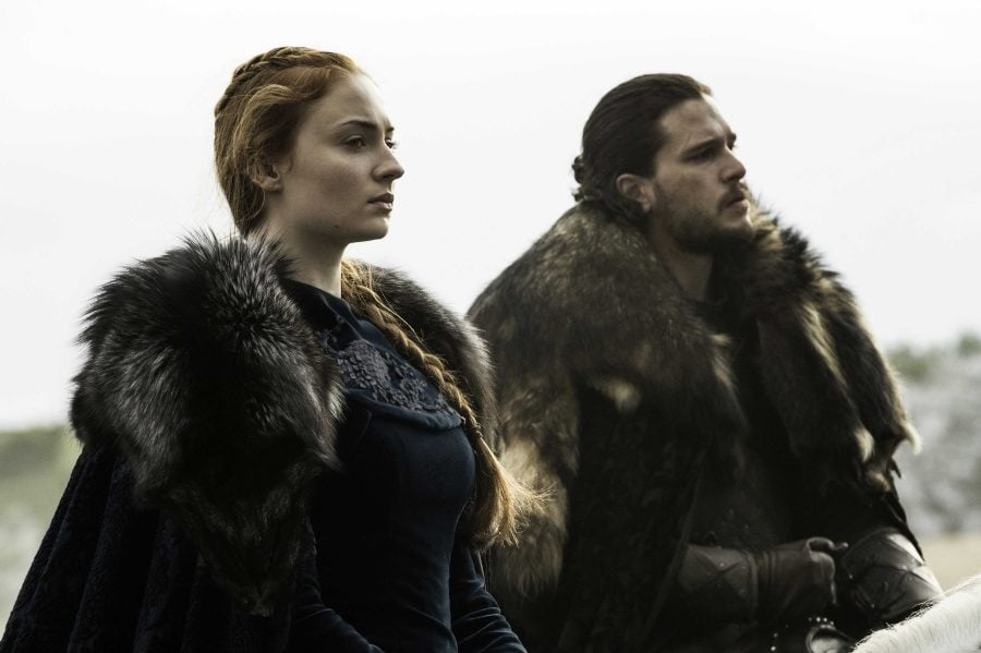 Sophie Turner, Kit Harington. photo: Helen Sloan/courtesy of HBO