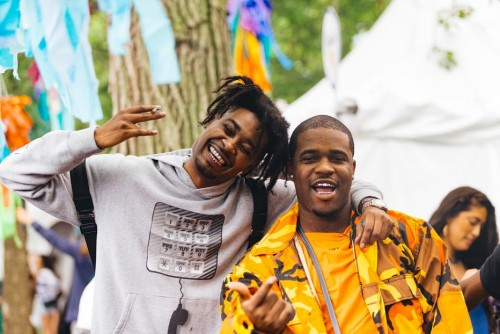 A$AP Ferg and Danny Brown hung out before Ferg's set on Friday.  The set was a crowd pleaser. (Josh Leff | The DePaulia)