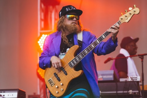 Bringing the funk to Lollapalooza, Lettuce performed songs from their fourth album to a small, rain-soaked crowd. (Josh Leff   The DePaulia)