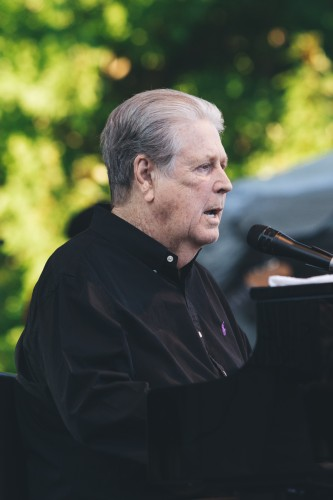 """Brian Wilson and a few members of the original Beach Boys performed """"Pet Sounds"""" and other Beach Boys' hits Saturday evening in one of the most anticipated sets of the festival. (Josh Leff 