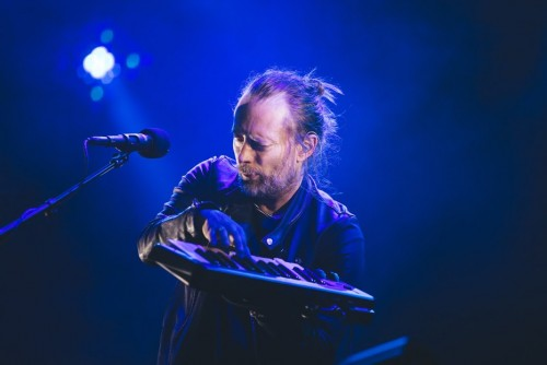 Thom Yorke and the other members of Radiohead played new hits and old favorites during their Friday headlining set.