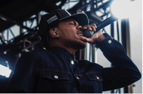 Chance the Rapper was one of the performers at Mamby on the Beach. (Jesus Montero/The DePaulia)