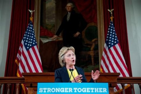 Clinton hits Springfield, addresses 'a house divided'