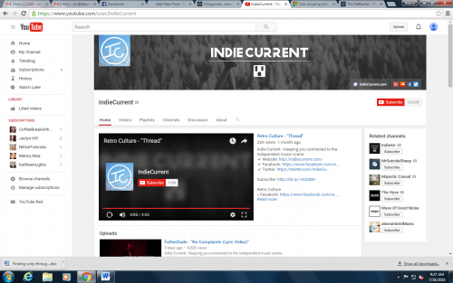 A part of the Indie music scene, IndieCurrent mixes multiple music styles to create a new sound.