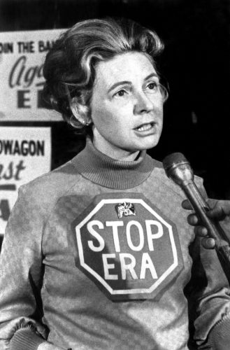 Phyllis Schlafly speaks out against the proposed Equal Rights Amendment. (Photo courtesy of FACEBOOK)