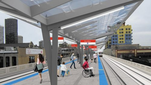 Massive transit project to make transit faster and less crowded. (Photo courtesy of CHICAGO TRANSIT AUTHORITY)