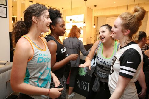 IMAGE DISTRIBUTED FOR NATIONAL FOOTBALL LEAGUE - NFL fans share their team pride wearing Nike at the NFL Women's Apparel Event on Thursday, Sept. 15, 2016 in New York. (Amy Sussman/AP Images for National Football League)